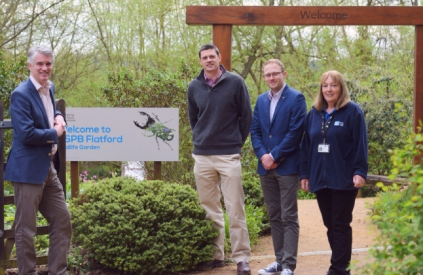 South Suffolk MP James Cartlidge visited the RSPB Wildlife Garden