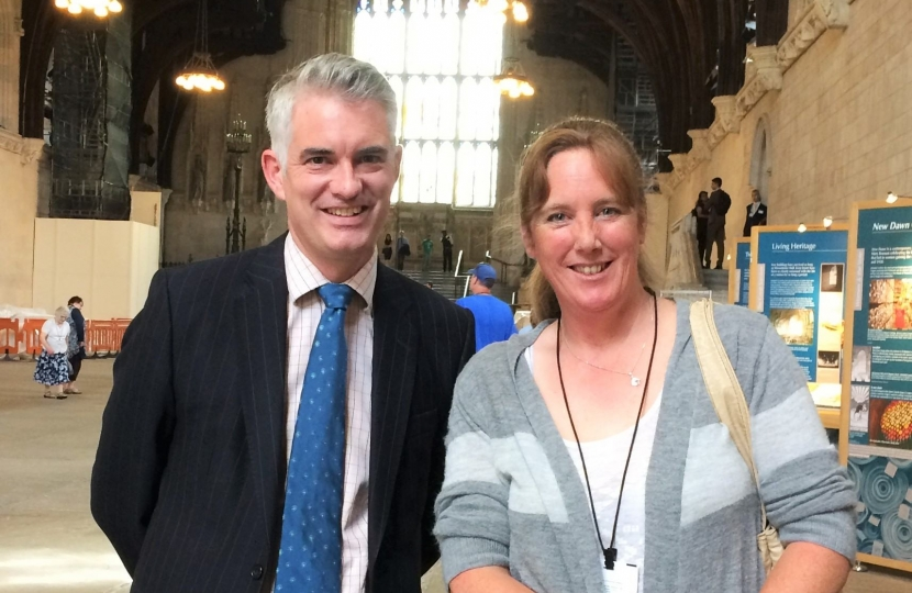 James Cartlidge MP with Christine Brindle - Pass wide & Slow