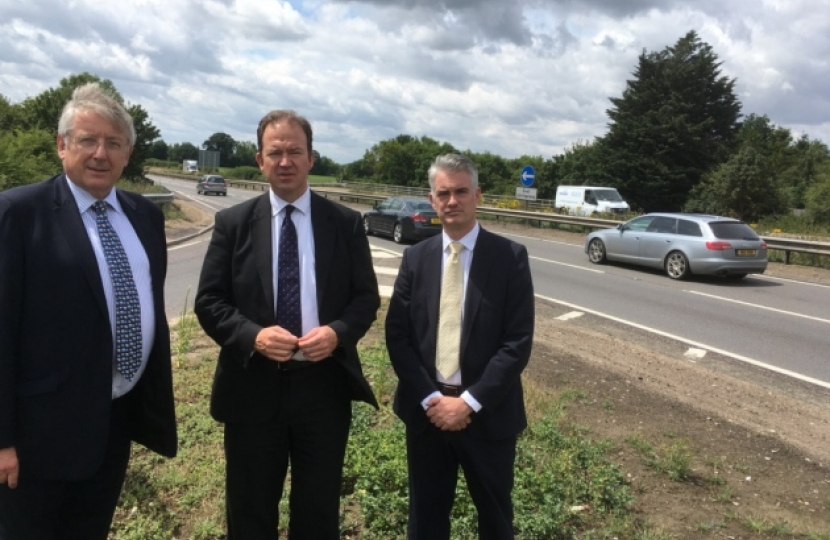 Cllr Gordon Jones, Jesse Norman, James Cartlidge