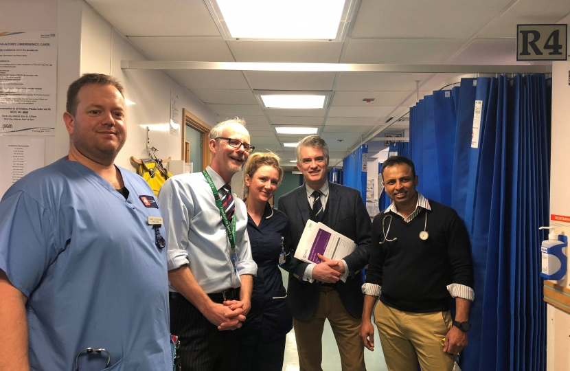 James Cartlidge MP at West Suffolk Hospital