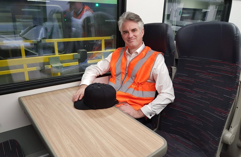 James Cartlidge MP on new Greater Anglia trains