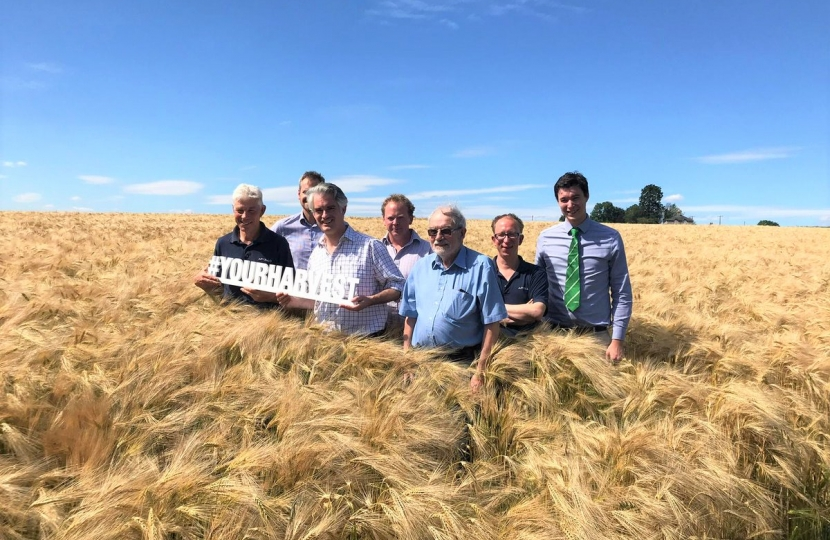 James Cartlidge MP with arable farmers