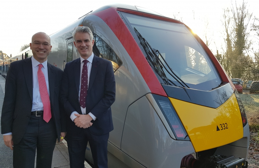 MP Welcome New Trains on the Sudbury Branch Line