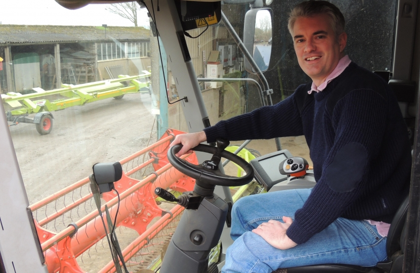 James Cartlidge MP Combine Harvester