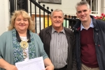 Sudbury Mayor Sarah Page, Cllr Jack Owen, James Cartlidge MP